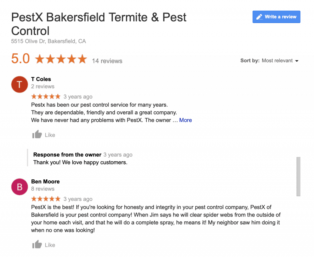 Bakersfield Pest Control Reviews, PEST X
